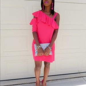 NWT Zara pink dress L